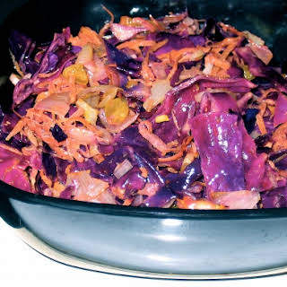 Moroccan Spiced Warm Red Cabbage Salad.