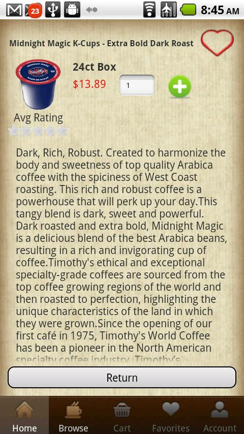 CoffeeGIANT - screenshot