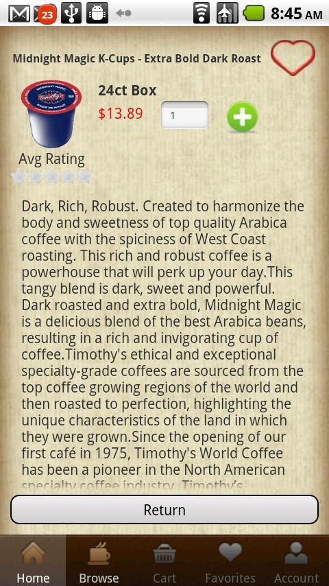 CoffeeGIANT - screenshot