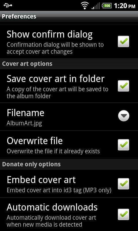 Cover Art Downloader (Donate) - screenshot