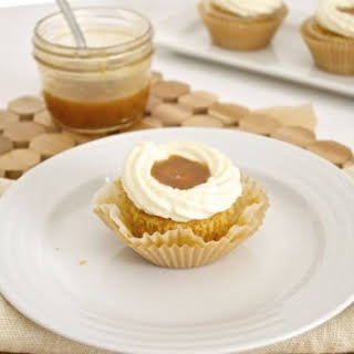 Salted Caramel Carrot Cupcakes with Vanilla Bean Mascarpone Frosting.