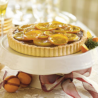 Candied Orange Truffle Tart