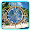 Cancun Mexico Beach Clock LWP