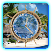 Cancun Mexico Beach Clock LWP