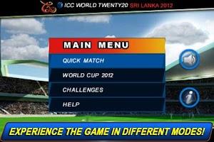 Screenshot of T20 ICC Cricket WorldCup 2012