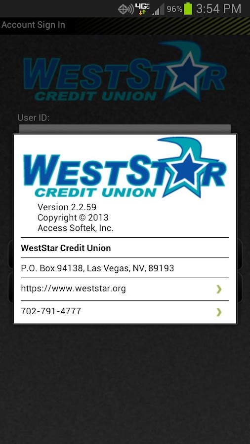 WestStar CU Mobile Banking - screenshot