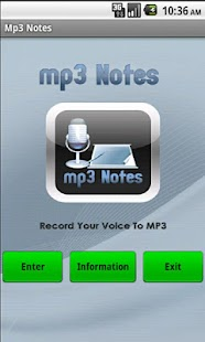 MP3 Notes Recorder - screenshot thumbnail