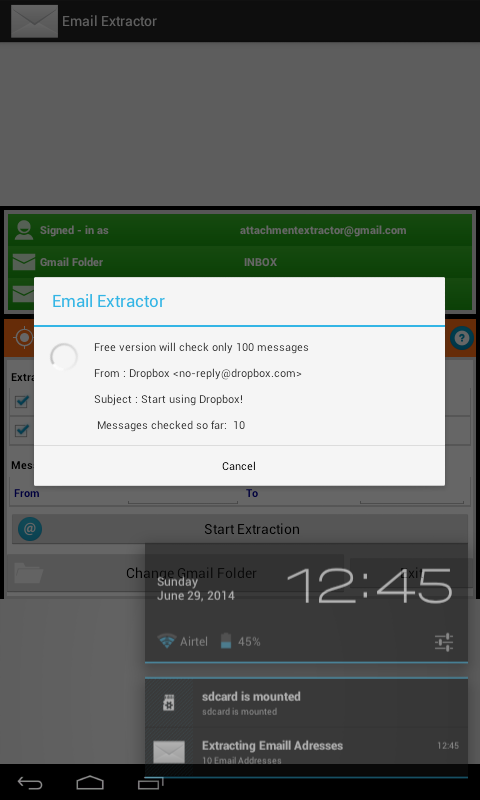 Email Extractor- screenshot