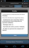Screenshot of LOTERIA Escaner Sorteos