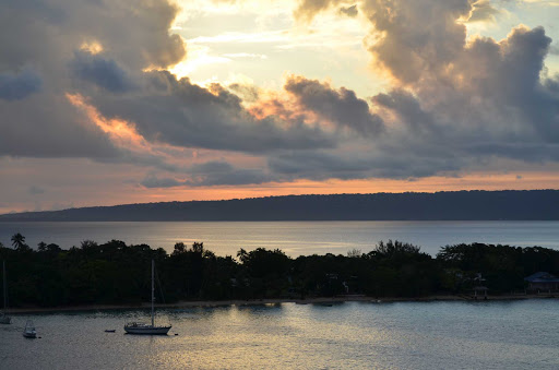 A sunset on the South Pacific island nation of Vanuatu.