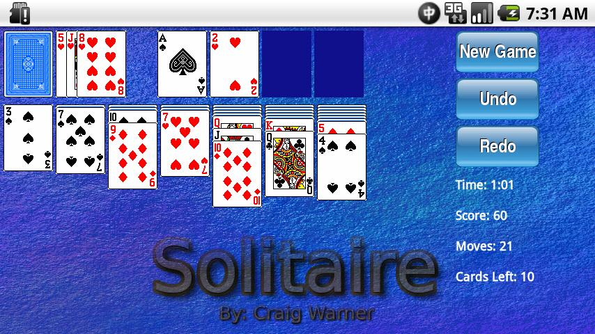 College Themed Solitaire - screenshot