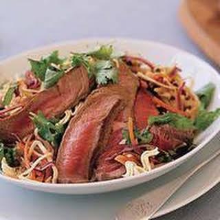 Thai Beef Salad with Crispy Noodles.