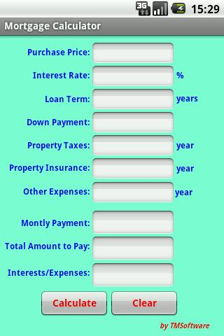 Mortgage Calculator- screenshot