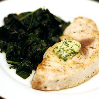 Swordfish with Lemon Herb Butter.