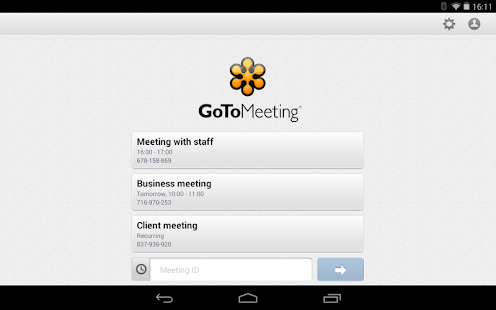 GoToMeeting - screenshot thumbnail