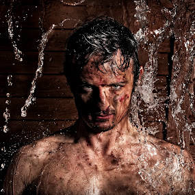Fighter portrait  by Melissa-lee Annetts - People Portraits of Men ( water, dirty, fighter, portrait, man )