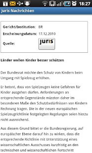 juris Nachrichten - screenshot thumbnail