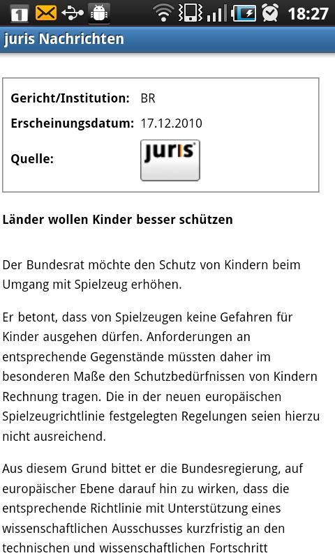juris Nachrichten - screenshot