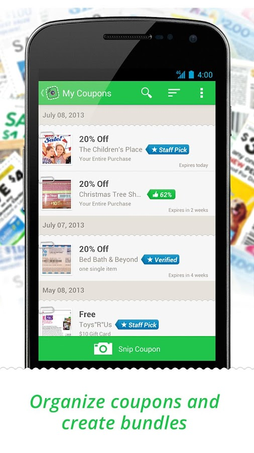 SnipSnap Coupon App - screenshot
