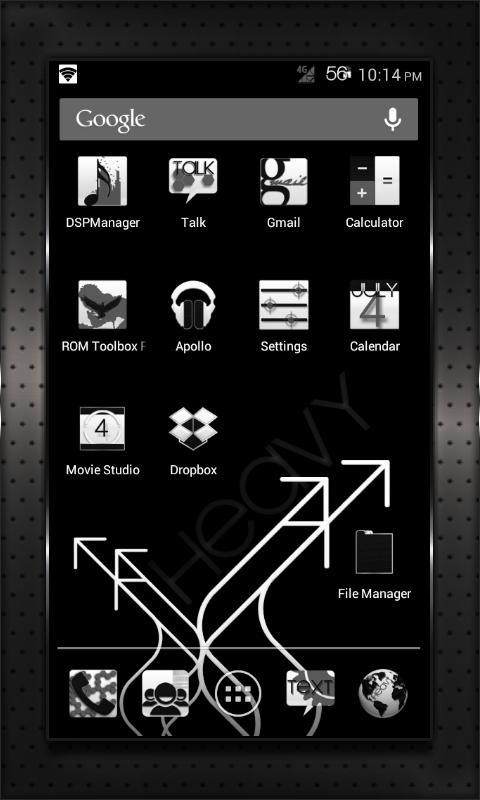 BLACK HEAVY cm10 cm9 aokp- screenshot