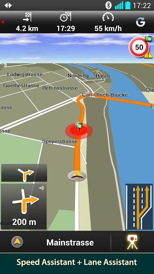 NAVIGON DACH - screenshot