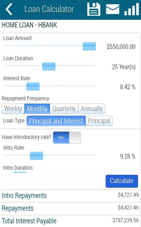 Loan Calculator Lite - screenshot