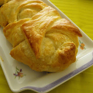 Cabbage and Sausage Stuffed Puff Pastry.