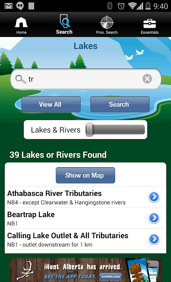 iFish Alberta- screenshot