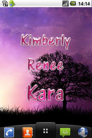 Kimberly pink sticker - screenshot