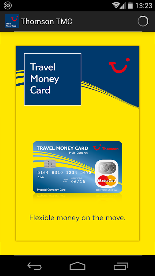 thomson travel money card android apps on google play. Black Bedroom Furniture Sets. Home Design Ideas