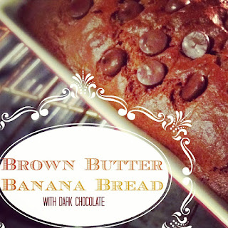 Brown Butter Banana Bread with Dark Chocolate Recipe