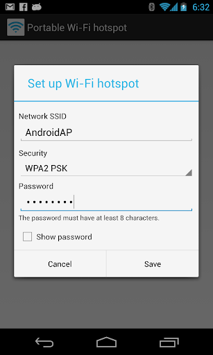Portable Wi-Fi hotspot Screenshot