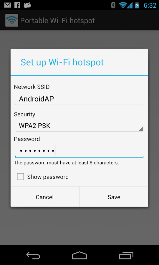 Portable Wi-Fi hotspot- screenshot