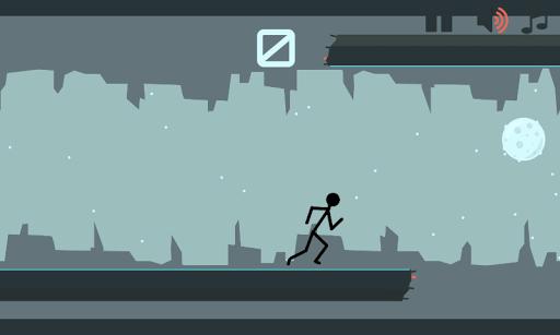 Stickman Flip Gravity running