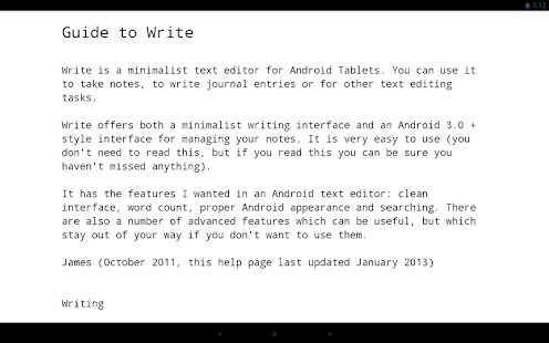 Write: Tablet Notepad/Journal - screenshot thumbnail