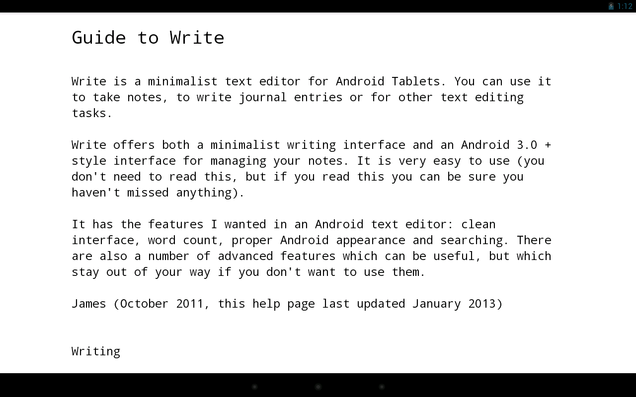 Write: Tablet Notepad/Journal- screenshot