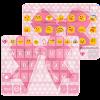Pink Bowknot Emoji Keyboard