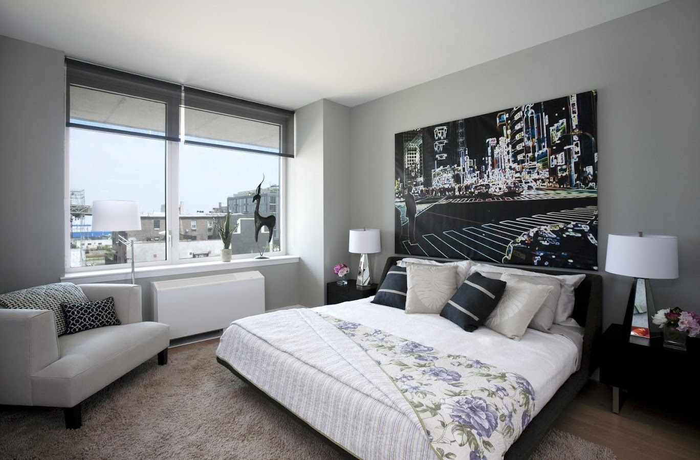 Black White Bedroom Decorating Ideas Modern Bedroom