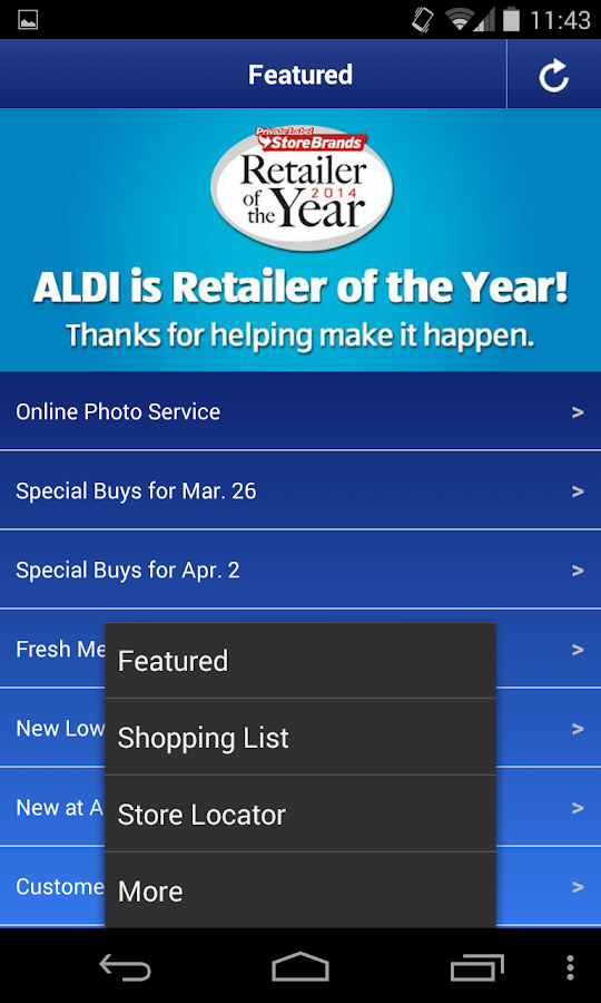 ALDI USA - screenshot