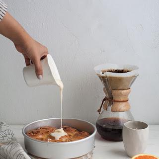 Orange Cardamom Sweet Rolls with Pistachios.