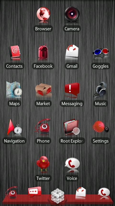 Red ADW Theme - screenshot