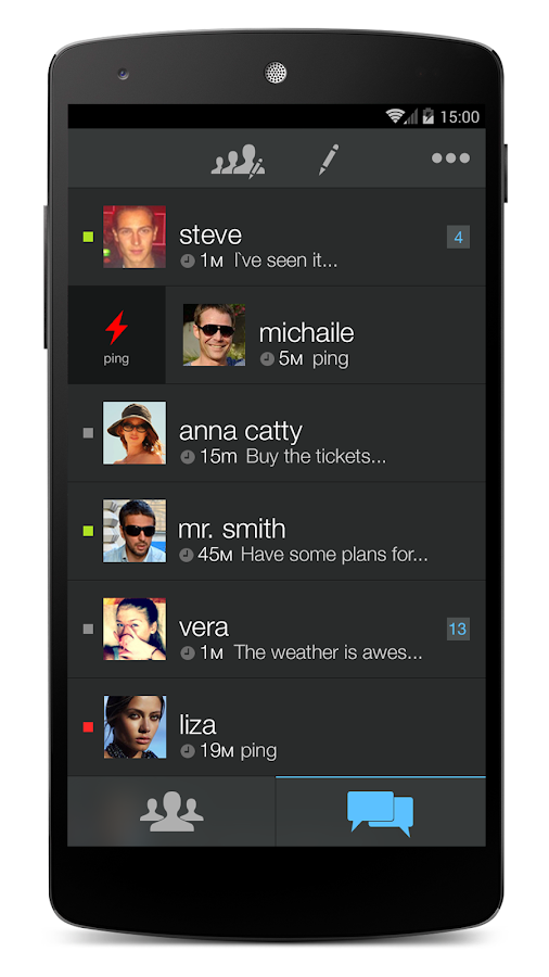 Ping app - screenshot