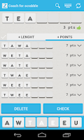 Screenshot of Scrabble coach