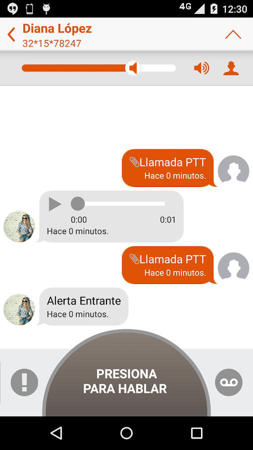 Prip - Nextel push to talk - screenshot