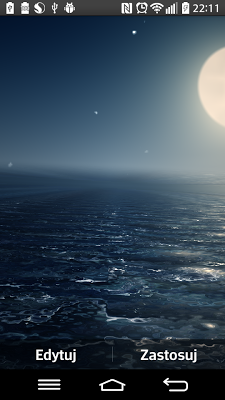 Ocean At Night Live Wallpaper - screenshot