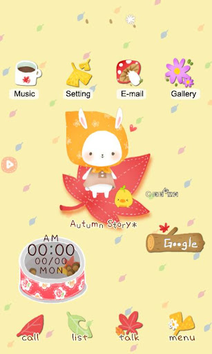 CUKI Themes Rabbit with fall