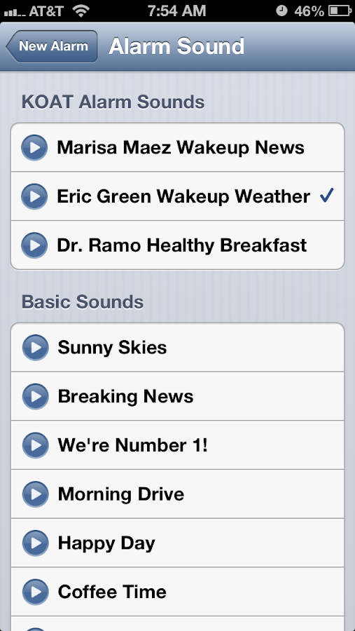 Alarm Clock KOAT 7 New Mexico - screenshot