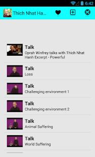 Thich Nhat Hanh Talks