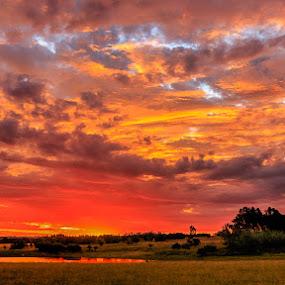 The Final Act by Hans-Erik Arp - Landscapes Sunsets & Sunrises ( clouds, african, sunset, south africa, sundown, cloudscape, stormsignal, dusk, colours )
