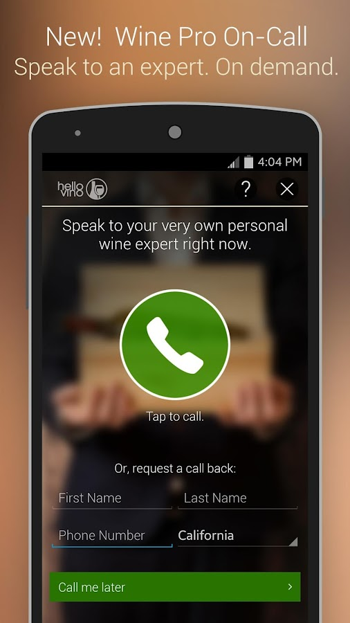 Hello Vino - Wine Assistant - screenshot